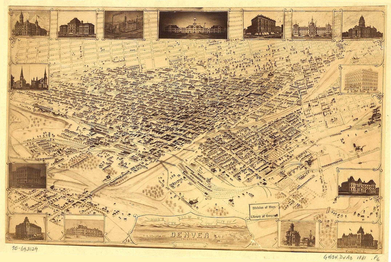 Image result for historic images of Denver colorado 1885
