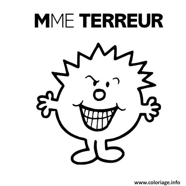Coloriage Monsieur Madame Terreur Jecoloriecom