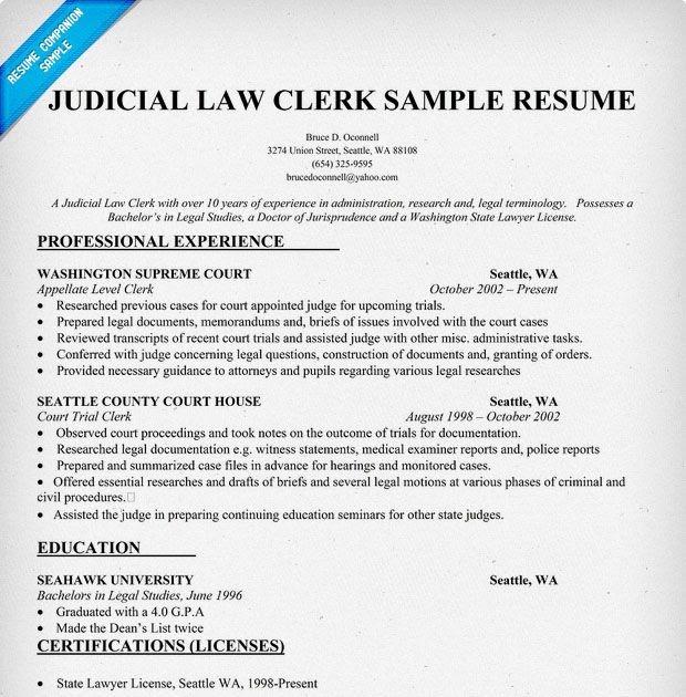 law clerk resume samples  resume samples