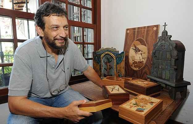 Ricardo Bittermann resgata a beleza da arte sacra das igrejas mineiras (Gladyston Rodrigues/EM/D.A Press)