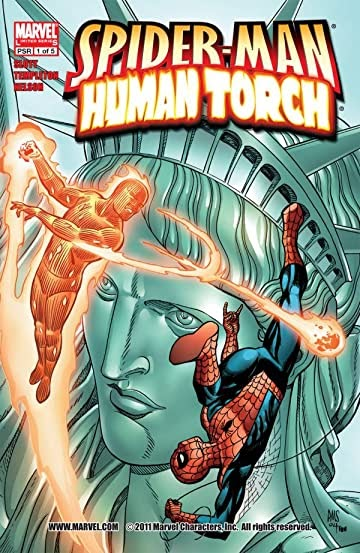 Spider Man And The Human Torch Comic