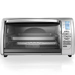 Black & Decker CTO6335S 6-Slice Digital Convection Toaster Oven, Stainless Steel
