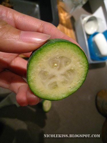feijoa fruit half