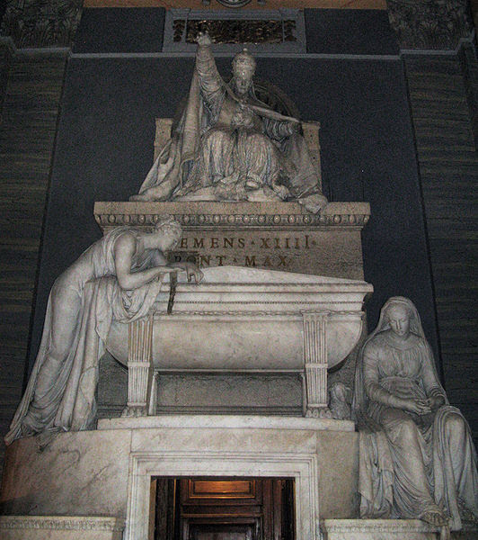 Fil: Antonio Canova-grav påven Clemens XIV.jpg