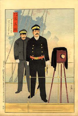 Kiyochika - The War Photographer - Kobayashi Kiyochika. The War photographer. A Meiji period Japanese print. © Copyright 1998-2014