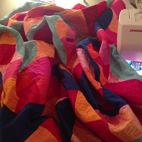 Quilting and quilting my king size mod pop