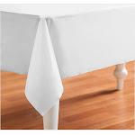Bright White (White) Plastic Tablecover - 25570 - Pack of 1 - White
