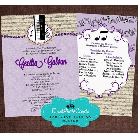 Change colors! Buy Our quinceanera invites! Music Band
