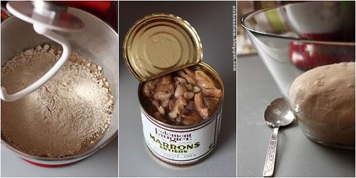 chestnut flour, chestnut, chestnut dough
