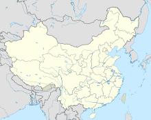 Xích Bích trên bản đồ Trung Quốc