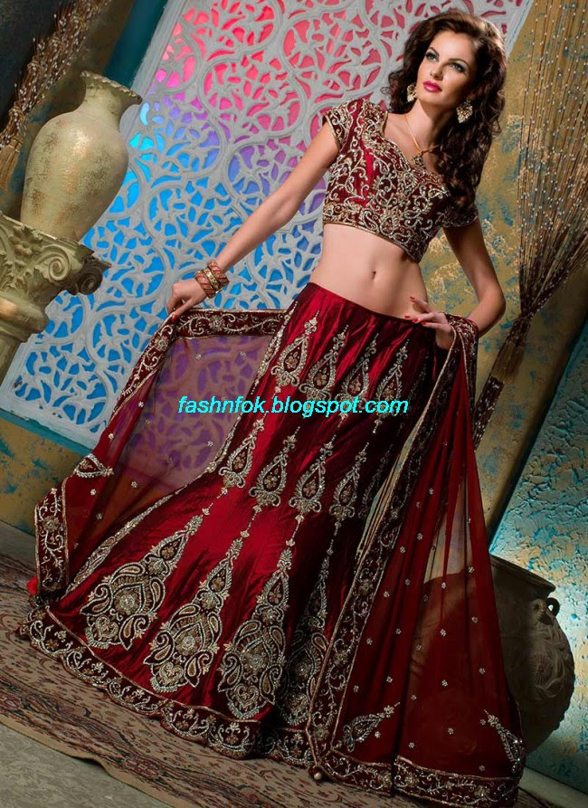 Beautiful-Cute-Girls-Wear-Bridal-Lehenga-Choli-New-Fashion-Dress-Design-2013-9