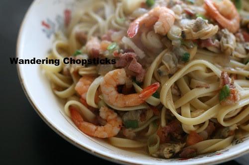 Italian Clam and Shrimp Fettuccine 2