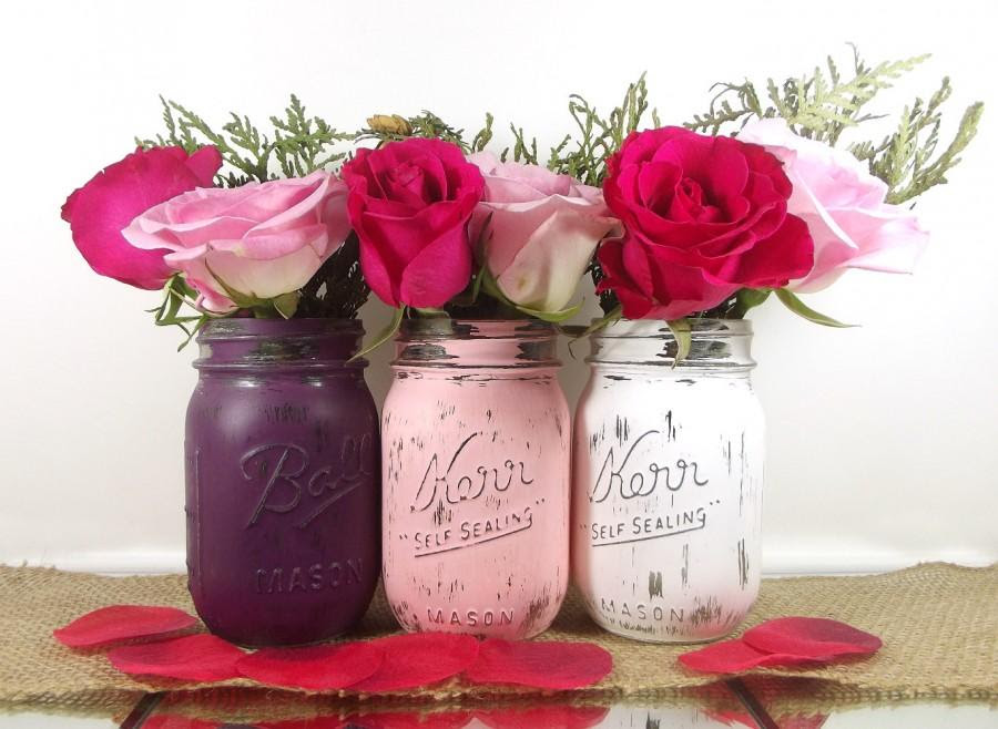 Bridal Shower Decor Rustic Wedding Decor Mason Jars Bridal