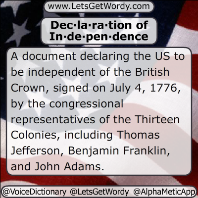 Declaration of Independence 07/04/2018 GFX Def