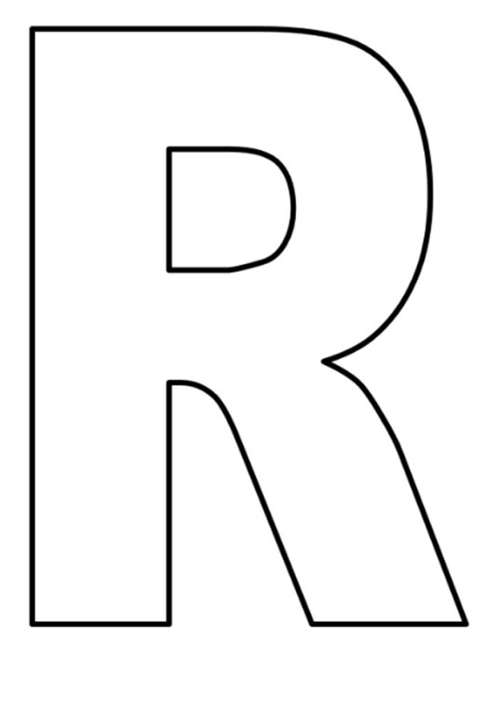 50 Letra R Para Colorear E Imprimir Imagenes Para Colorear