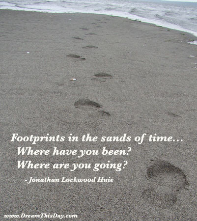 Footprints In The Sands Of Time By Jonathan Lockwood Huie