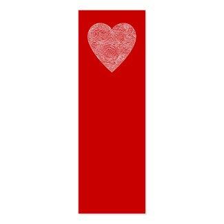 Heart Mini Bookmarks - Business Card Template