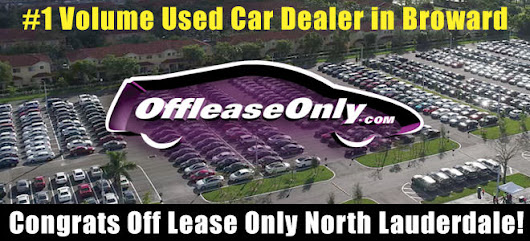 Off Lease Only North Lauderdale Already #1 Volume Used Car Dealer in Broward!
