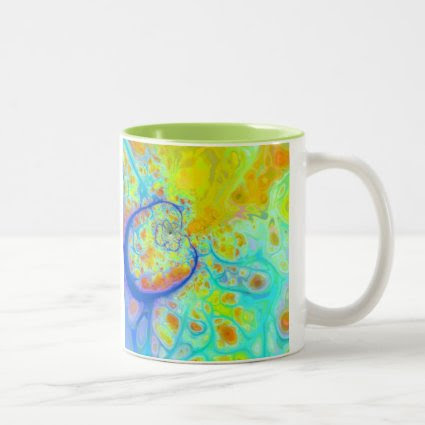 Emerging Galaxies – Teal & Lime Currents Mug