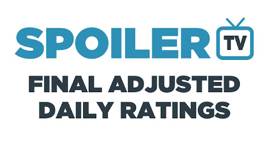 Final Adjusted TV Ratings for Monday 18th February 2019
