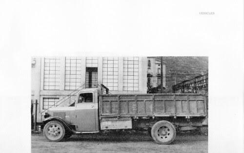 camió a Ripoll en els anys quaranta (Girona)