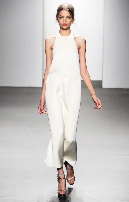 18 20 Alternative Wedding Looks Calvin Klein Collection SS 2011 Minimal Front Tie Sleeveless Dress Non-Traditional Bride photo 18-20-Alternative-Wedding-Looks-Calvin-Klein-Collection-SS-2011-Minimal-Front-Tie-Sleeveless-Dress.jpg