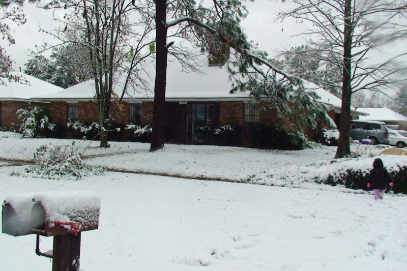 Grant House In The Snow