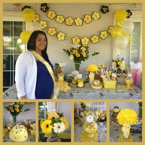 Angie's baby shower bee theme   #Sandrukesinc