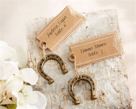 Lucky in Love Horseshoe Place Card Holders (Set of 6)   My