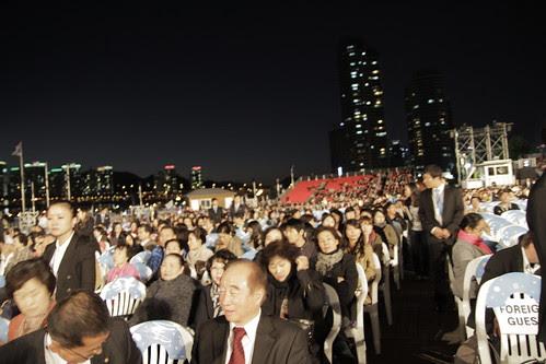 Audiences at the Pusan film fest closing ceremony