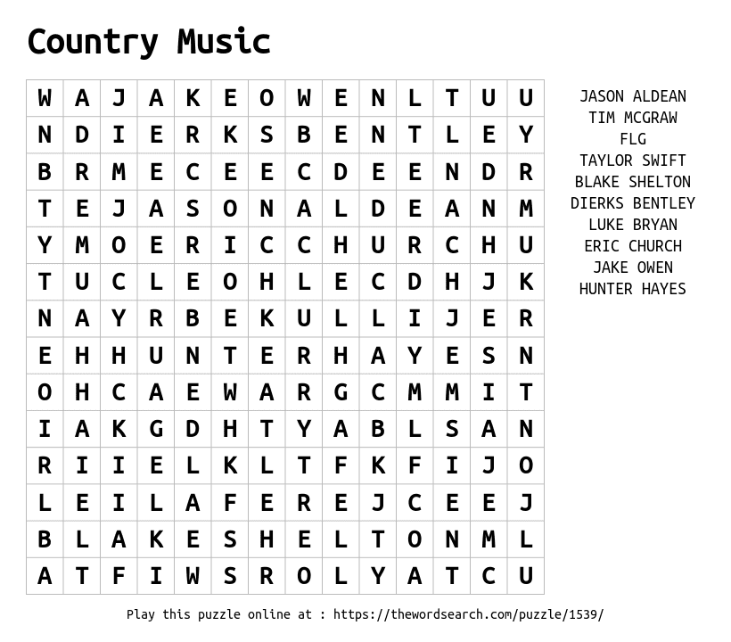 word search 1539