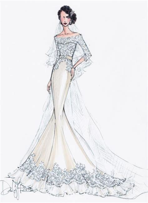 Modern Bridal Sketches by Illustrative Moments » Love