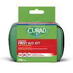 Curad Compact First Aid Kit, Travel Size - 75 Pieces