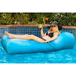 Ocean Blue Water Product Allure Sunbrella Float & Lounger, Cyan