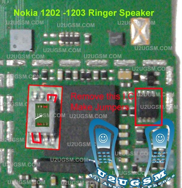 Nokia 1202 1203 Ringer Speaker Porblem Solved Without I
