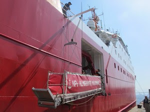 Navio Polar Almirante Maximiniano (Foto: Cristiane Cardoso / G1)
