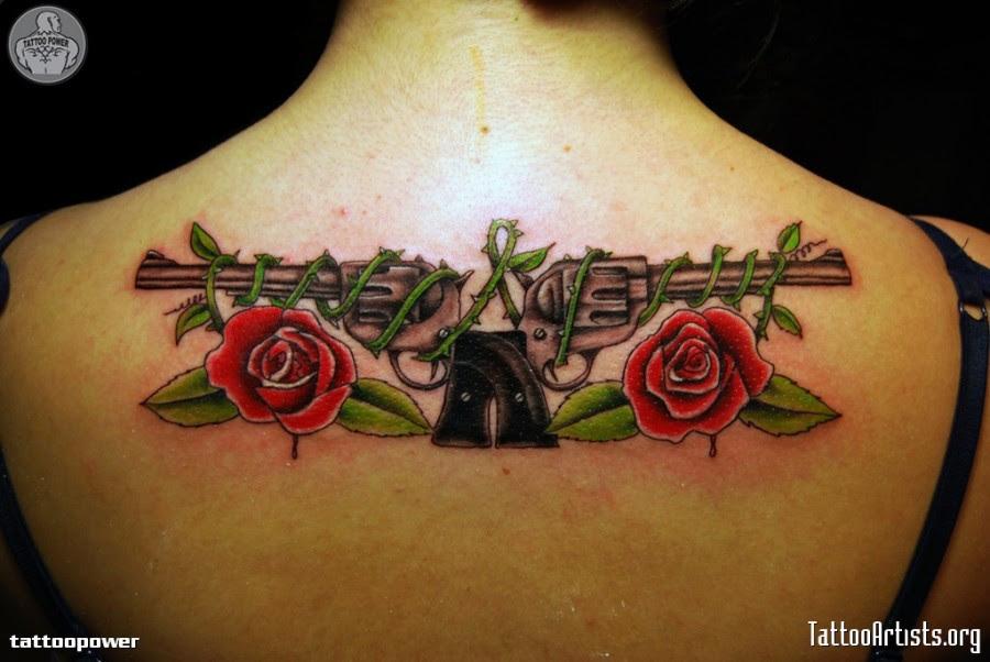 Guns N Roses Tattoo Upper Back Body Art Tattoo Design Tattoomagz