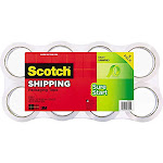 Scotch Heavy Duty Shipping Packaging Tape 1.88 Inches X 54.6 Yards 8 Rolls (3850-8) 436yd (400 M)