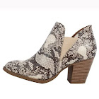 Delicious City Classified Women's Python Snake Elastic Stacked Heel Ankle