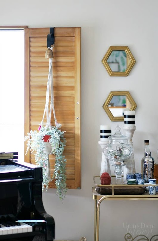 Easy Anthropologie DIY Plant Hangers for Under $5 | Up to Date Interiors