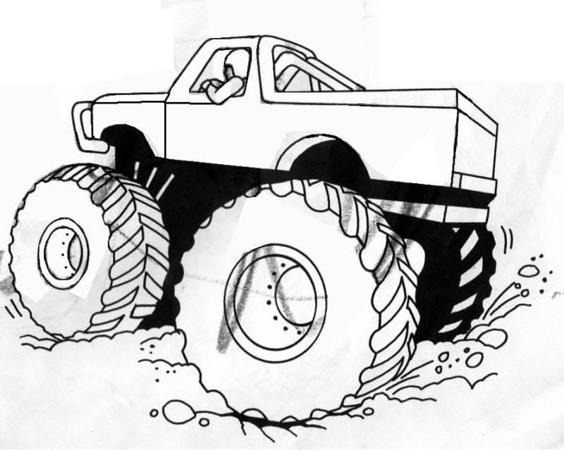 Monster Truck Coloring Pages For Kids - Coloring Home
