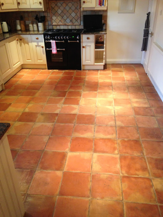 Terracotta Tiles Ingrained with Dirt Cleaned and Sealed in the Forest of Dean | Monmouthshire Tile Doctor