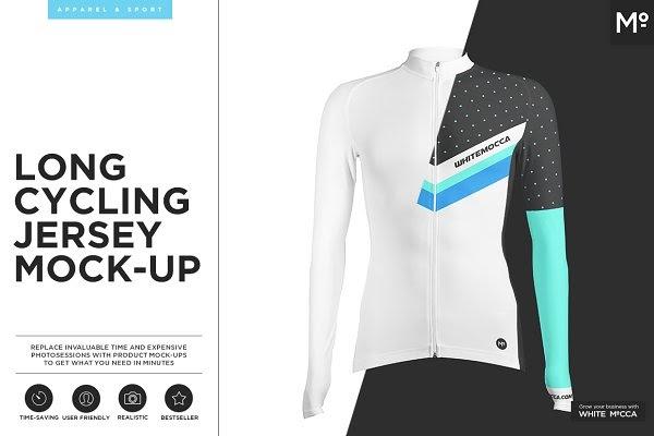 Download Long Cycling Jersey Mock-up PSD Mockups Templates
