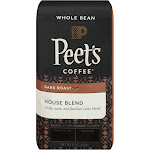 Peet's House Blend Dark Roast Whole Bean Coffee - 12oz