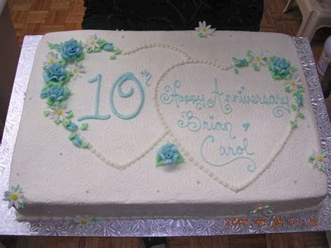 10th Anniversary Cake.   Cake Decorating   Pinterest