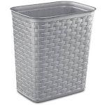 Sterilite 7981830 3.4 gal Weave Waste Basket Cement