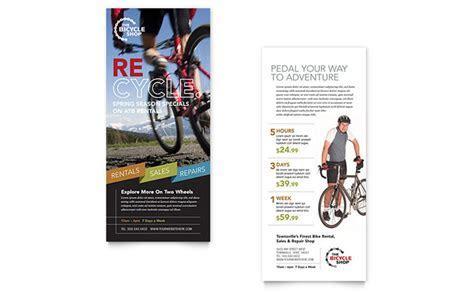 Bike Rentals & Mountain Biking Rack Card Template Design