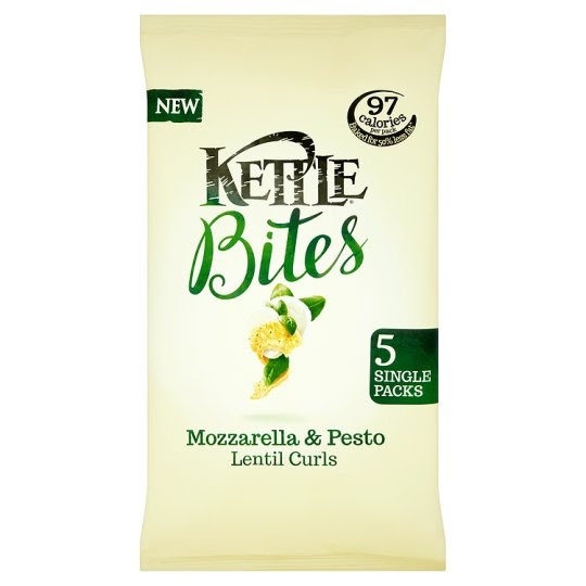 Kettle Bites Mozzarella And Pesto Curls5x22g