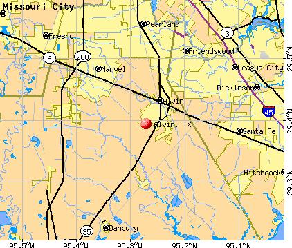Map Of Alvin Texas | Business Ideas 2013