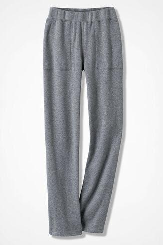 Crème de la Fleece Pants, Mid Heather Grey, large
